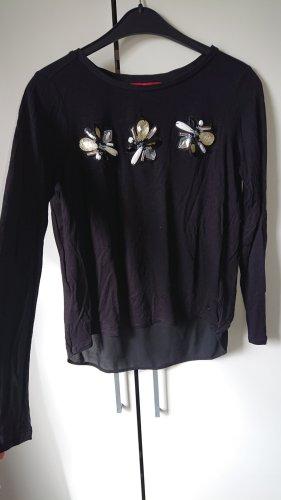 Schwarzes Viskose Shirt von S.Oliver in Größe 34