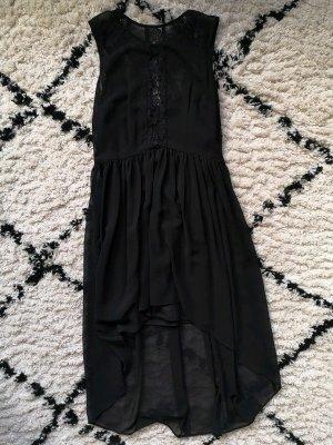Schwarzes Vokuhila-Kleid
