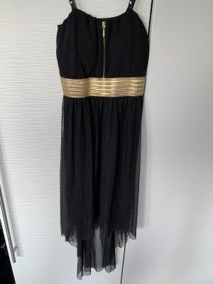 Asymetryczna sukienka czarny-złoto
