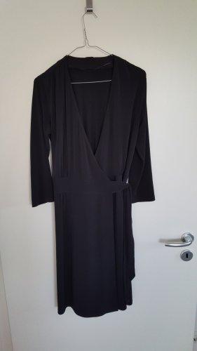 Schwarzes Wickelkleid von ESPRIT COLLECTION, 3/4 Arm, Größe: L