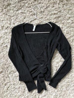 H&M Wraparound Shirt black