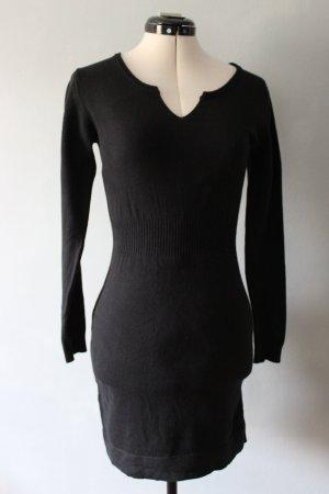 Schwarzes Winter Minikleid