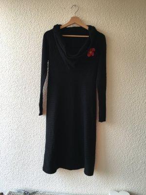 Vestito di lana nero Poliammide