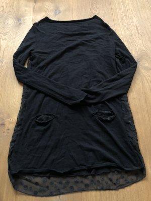 Schwarzes Wollkleid in Größe 40