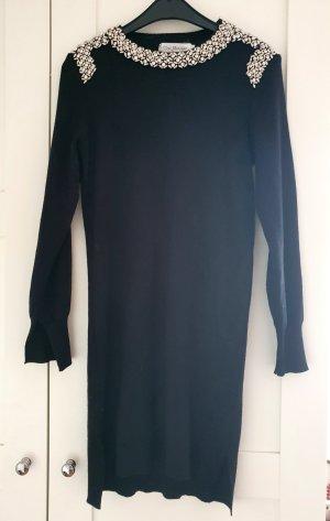 Vintage Vestito di lana nero-argento