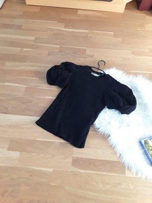 schwarzes Zara crop Shirt 38 mit push Ärmel