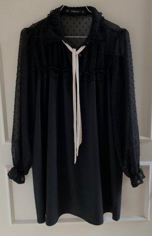 Schwarzes ZARA Kleid mit Schleife