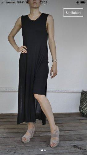 schwarzes Zara Maxikleid mit cut outs