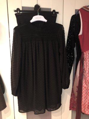 Schwarzes Zara Plumetis Kleid