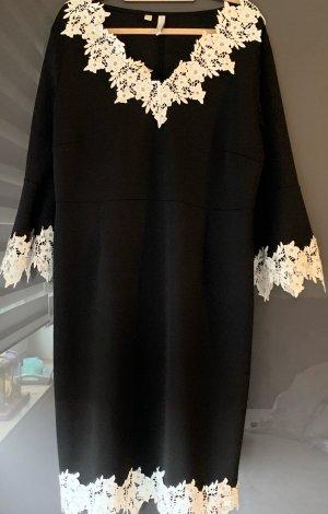 b.p.c. Bonprix Collection Abito jersey nero-bianco