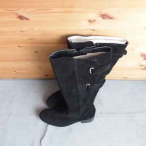 Sheego Wide Calf Boots black suede