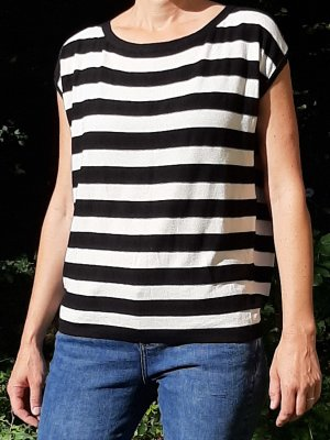 Kookai T-shirt bianco-nero