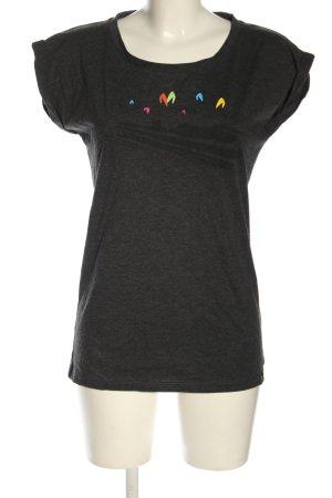 Schwerelosigkite T-Shirt hellgrau meliert Casual-Look