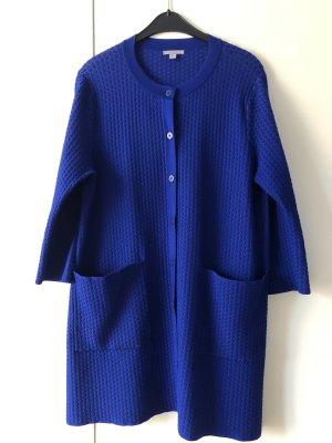 COS Cappotto a maglia blu