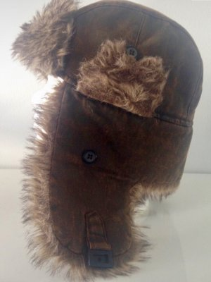 Aviator Hat brown fake fur