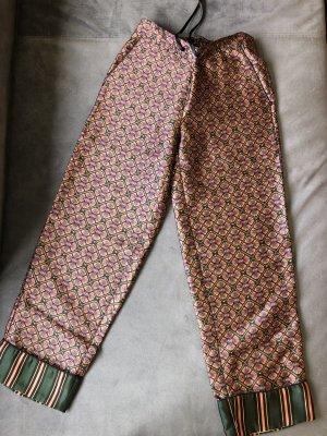 Scotch & Soda Pantalon 3/4 rouge mûre-vert foncé