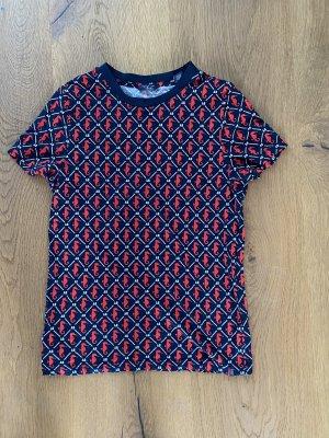 Scotch and soda T shirt größe 36 S Marine blau rot