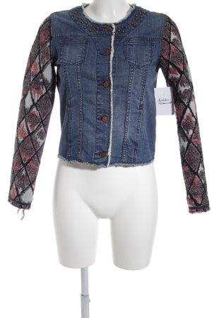 Scotch R'Belle Jeansjacke mehrfarbig Logo-Applikation aus Metall
