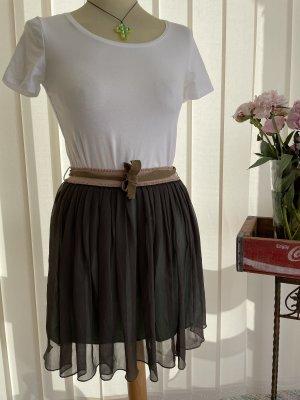 Scotch R'Belle Plisowana spódnica zielono-szary-miętowy