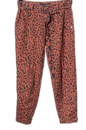Scotch & Soda Jeans baggy rouge-noir motif léopard style décontracté