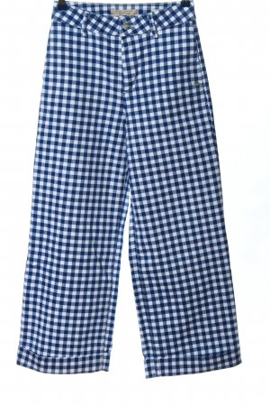Scotch & Soda Workowate jeansy niebieski-biały Wzór w kratkę W stylu casual