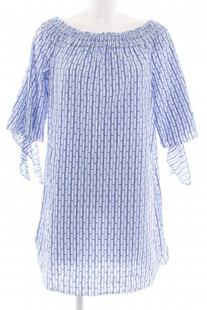 Scotch & Soda Robe bandeau bleu-blanc motif de tache style décontracté