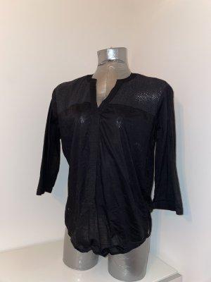Scotch&Soda, Bluse mit Netzeinsätzen, schwarz, Gr. M