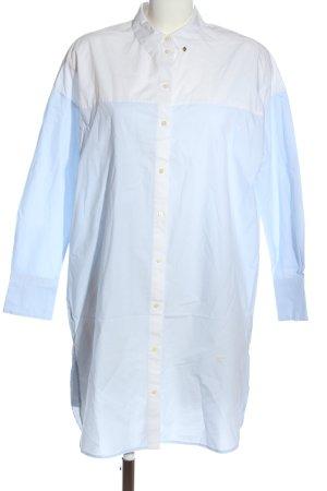 Scotch & Soda Blusenkleid blau-weiß Business-Look