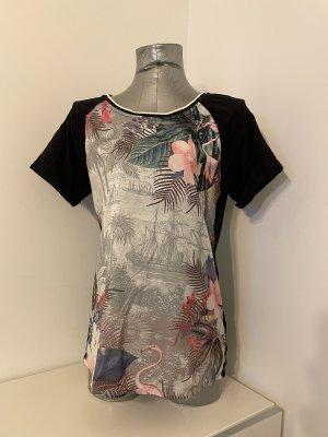 Scotch&Soda, Blusenshirt mit Print Blumen & Flamingo, Gr. M
