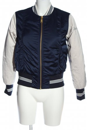 Scotch & Soda Bomberjacke blau-weiß Casual-Look