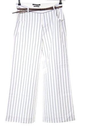 Scotch & Soda Boot Cut Jeans weiß-blau Streifenmuster Casual-Look