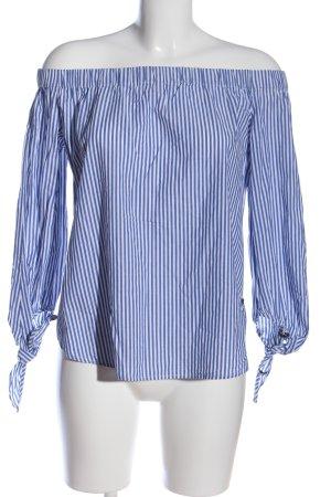 Scotch & Soda Carmen-Bluse blau-weiß Streifenmuster Casual-Look