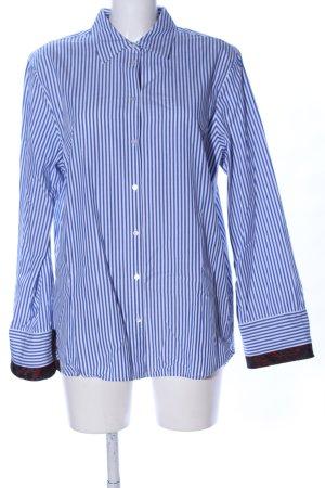 Scotch & Soda Hemd-Bluse blau-weiß Allover-Druck Business-Look