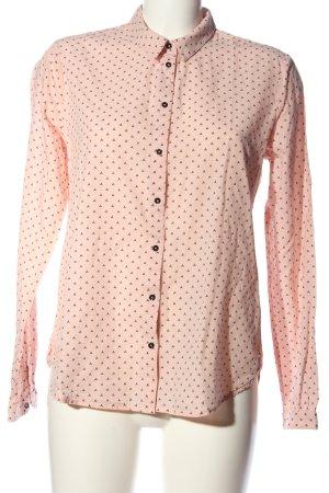 Scotch & Soda Hemd-Bluse pink-schwarz Allover-Druck Casual-Look