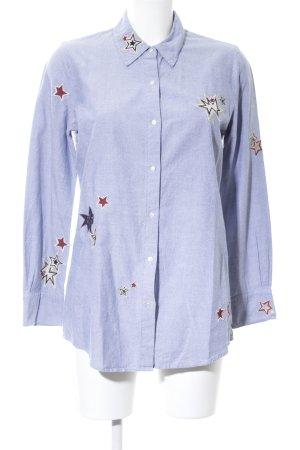 Scotch & Soda Hemd-Bluse blau Motivdruck Casual-Look