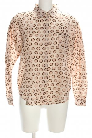 Scotch & Soda Hemd-Bluse creme-braun abstraktes Muster Casual-Look
