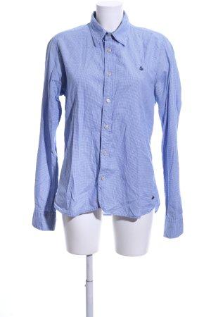Scotch & Soda Hemd-Bluse blau-weiß Karomuster Casual-Look