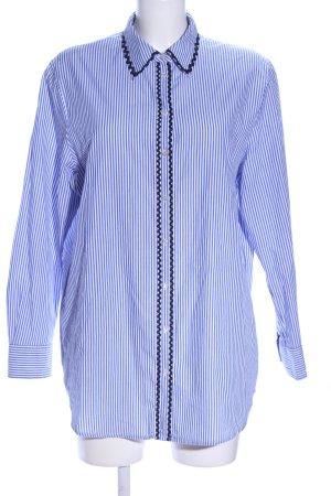 Scotch & Soda Hemd-Bluse blau-weiß Streifenmuster Business-Look