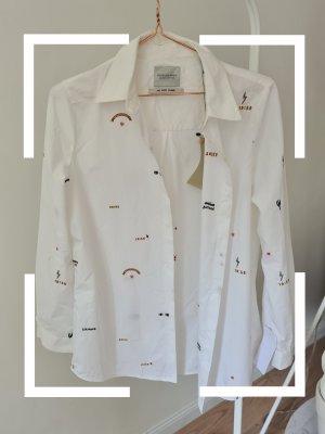 Scotch & Soda Hemd, Weiß mit Emoji, Neu, Gr. S