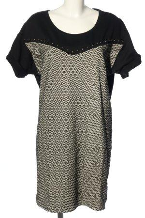Scotch & Soda Jerseykleid weiß-schwarz grafisches Muster Casual-Look