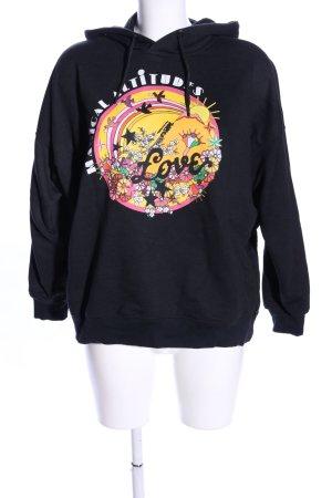Scotch & Soda Kapuzensweatshirt schwarz-blassgelb Motivdruck Casual-Look