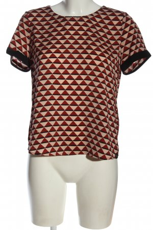 Scotch & Soda Kurzarm-Bluse creme-rot Allover-Druck Business-Look
