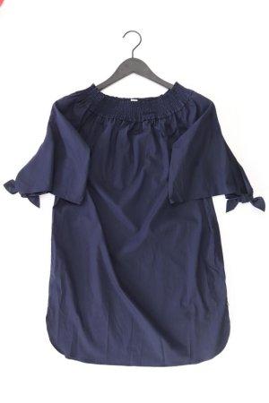 Scotch & Soda Kurzarmkleid Größe XS neuwertig mit Carmen-Ausschnitt blau aus Baumwolle
