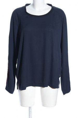 Scotch & Soda Langarm-Bluse blau Casual-Look