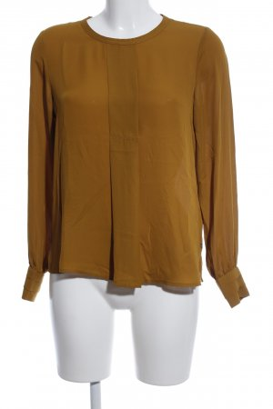 Scotch & Soda Langarm-Bluse bronzefarben Business-Look