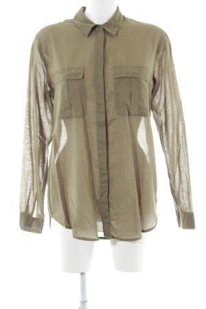 Scotch & Soda Shirt met lange mouwen khaki volledige print casual uitstraling