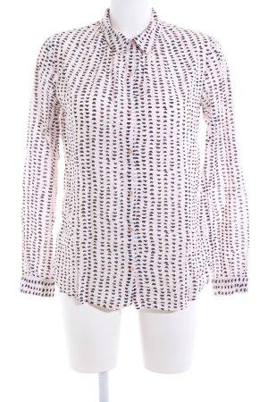 Scotch & Soda Langarmhemd pink-schwarz abstraktes Muster Casual-Look