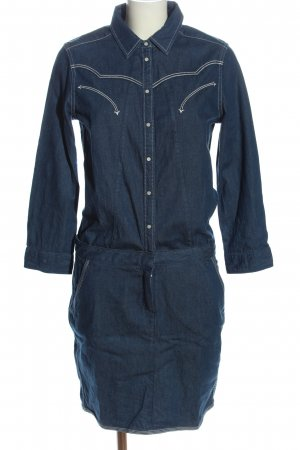 Scotch & Soda Langarmkleid blau Casual-Look