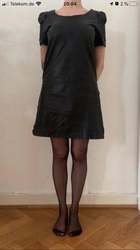 Scotch & Soda Vestido de cuero negro Cuero