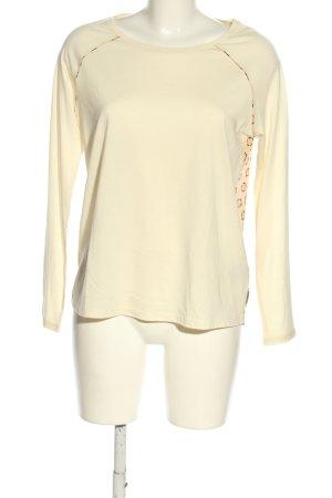 Scotch & Soda Koszulka z długim rękawem kremowy-brązowy Abstrakcyjny wzór